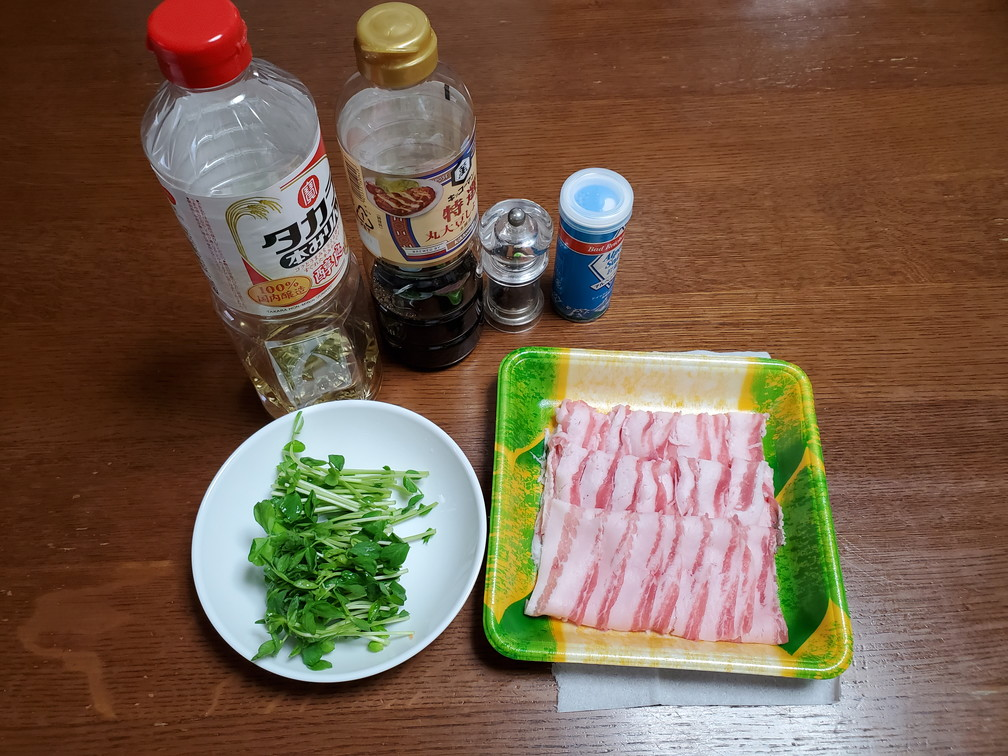 凪のお暇ご飯凪めし豆苗の豚肉巻き材料