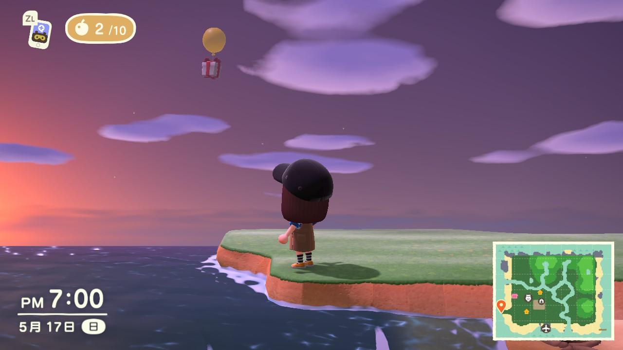 風船がとんでくる画像